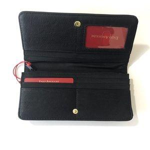 Enzo Angiolini Bags - Enzo Angiolini Black Vegan Leather Wallet